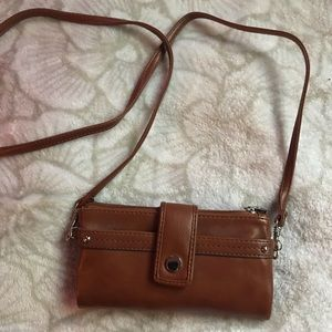 Wallet with cross body strap